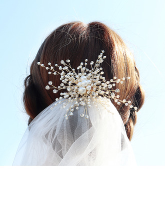 Senhoras Moda Strass/Liga/Falso pérola Grampos de cabelo com Strass/Pérola