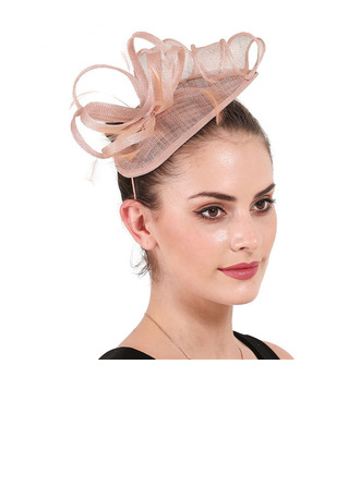 Damer' Enkel/Iögonfallande Batist med Fjäder Fascinators/Kentucky Derby Hattar