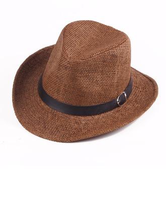 Dos homens Clássico Palha Salgada Chapéu de caubói/Kentucky Derby Bonés
