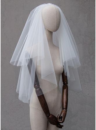 Due strati Bordo tagliato Velare da sposa gomito
