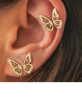 Stylish Alloy Women's Fashion Earrings (Set of 4)