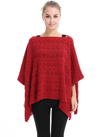 Énorme/mode/simple Laine artificielle Poncho