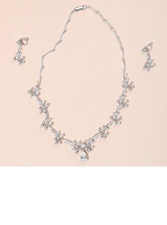 Dames Elegant Zirkoon Sieraden Sets Haar/Vrienden/Bruid/Bruidsmeisje