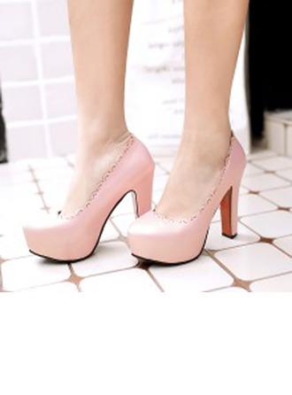 De mujer Piel brillante Tacón ancho Salón Cerrados con Otros zapatos