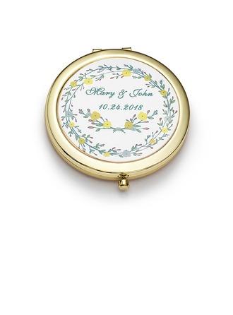 Cadeaux De Mariée - Personnalisé Mignon Acier Inoxydable Miroir compact