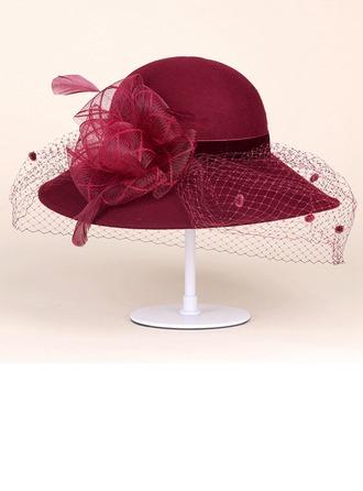 Bayanlar Muhteşem Yün Bowler / Cloche Hat/Çay Partisi Şapkaları