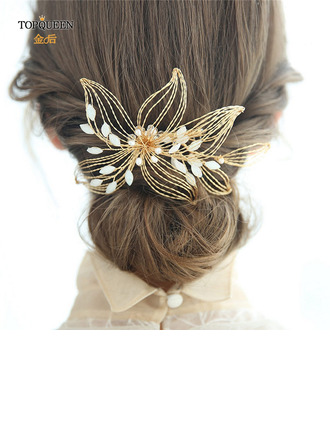 Ladies Glamourous Rhinestone/Copper Combs & Barrettes (Sold in single piece)