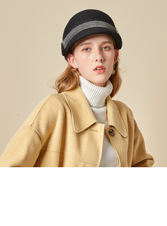 Ladies' Glamourous/Charming/Romantic Wool With Tulle Bowler/Cloche Hats