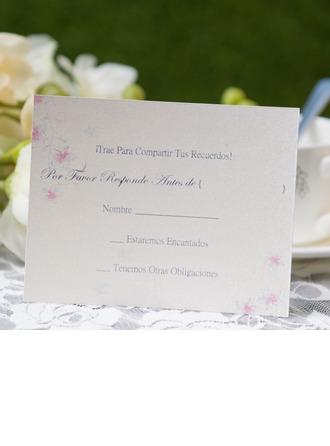 Personlig Blommig Stil Svarskort (Sats om 50)