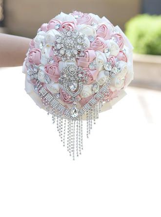 Semplice ed elegante Rotondo Fiore di seta Mazzi da sposa - Mazzi da sposa
