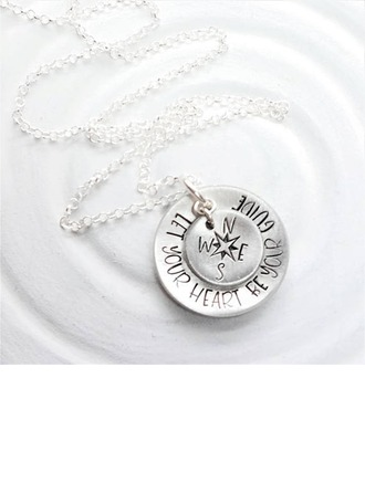 Personalized Couples' Hottest 925 Sterling Silver Engraved/Bar Necklaces For Friends/For Couple