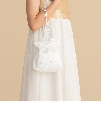 Saten Ile Inci El çantası/Çiçek Sepeti