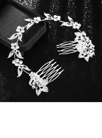 Ladies Beautiful Alloy Headbands With Rhinestone (Sold in single piece)