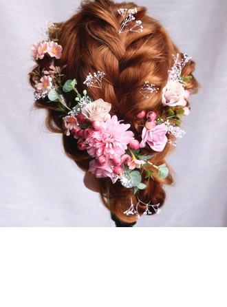 Hyvät Erityinen Silkki kukka Kammataan ja baretti