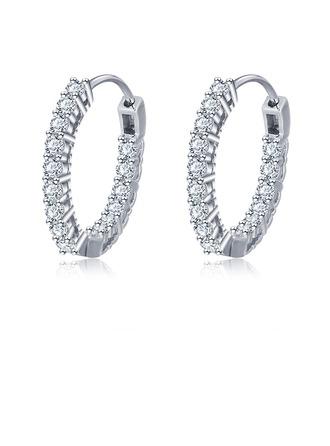 Shining Alloy/Zircon Ladies' Earrings