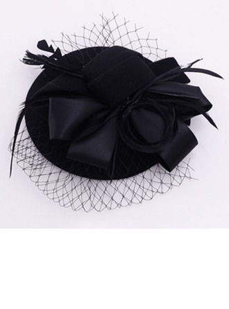 Ladies' Vintage Velvet/Tulle Fascinators/Tea Party Hats