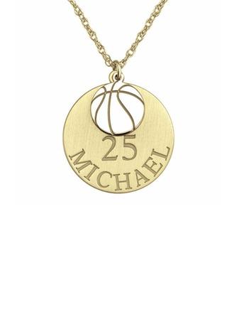 Personalizado Chapado en oro de 18 k Grabado / Grabado Circulo Collar con nombre Collar grabado