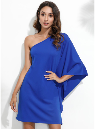 Shift One Shoulder Polyester Dresses