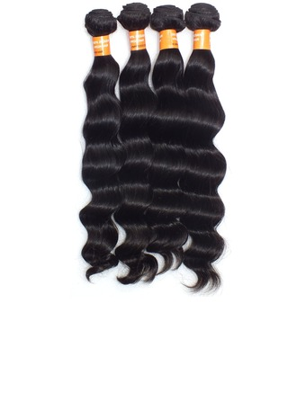 4A Deep Wavy Human Hair Hair Weaves/Weft Hair Extensions (Sold in a single piece)