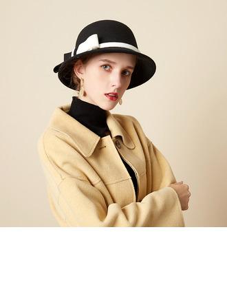Sonar Naisten Kaunis/Loistokkaat/Charmia villa sekoitus jossa Bowknot Keilaaja / Clochen hattu