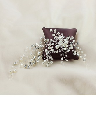 Ladies Pretty Alloy Combs & Barrettes With Venetian Pearl (Sold in single piece)