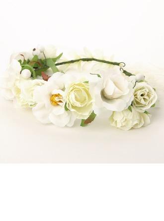 Güzel Pamuk/Rattan Straw/Kurdele Çiçekler ve tüyler