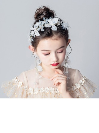 Alloy/Crystal With Flower Headbands/Earclip (Sold in a single piece)