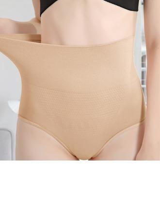 Femmes Style Classique/élégante De chinlon/Nylon Respirabilité/Imperméable Taille haute Culotte avec Jacquard Corsets