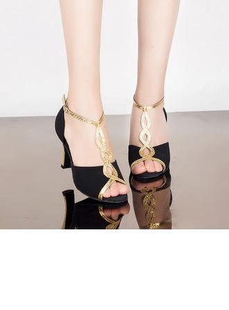 De mujer Cuero Ante Tacones Sandalias Danza latina Zapatos de danza