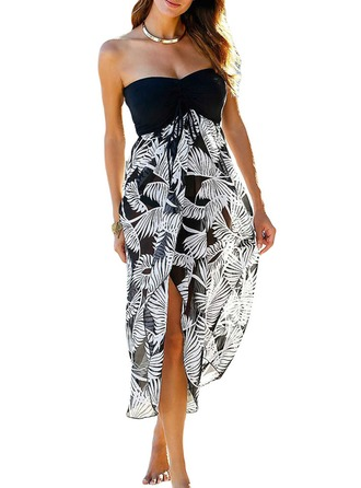 Boheems Bloemen Polyester Strand jurk
