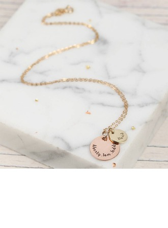 Personalized Ladies' Chic 925 Sterling Silver Engraved Necklaces Necklaces For Bridesmaid/For Mother/For Friends