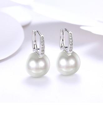 Shining Pearl Copper Ladies' Fashion Earrings