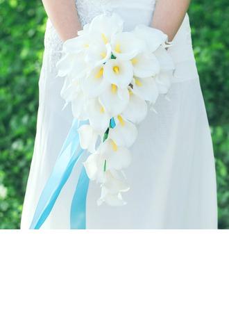 Tyylikäs Vesiputous Keinotekoinen silkki Morsiamen kukkakimppuihin
