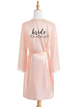 Personalized Charmeuse Bride Bridesmaid Mom Junior Bridesmaid Embroidered Robes