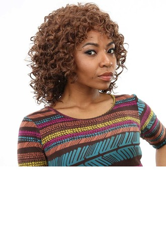 High temperature Curly Synthetic Wigs African American Wigs