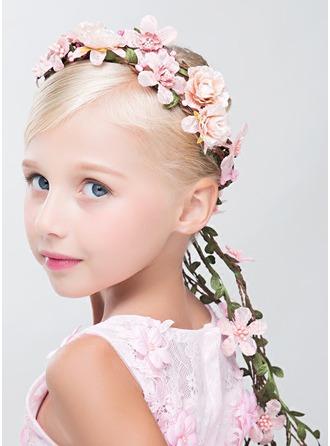 Konstsilke med Blomma Flower Pannband