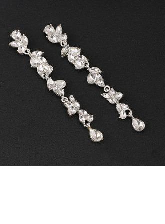 Encanto Aleación/Diamantes de imitación Señoras' Pendientes