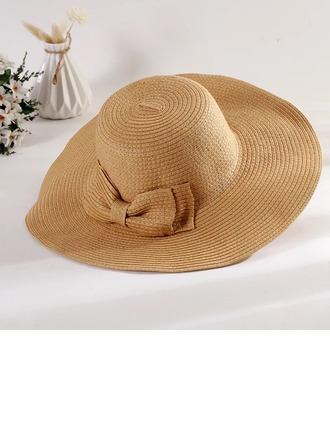 Ladies' Special/Elegant/Eye-catching Raffia Straw With Bowknot Straw Hat