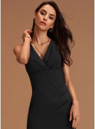 Sheath Sleeveless Midi Back Details Sexy Dresses
