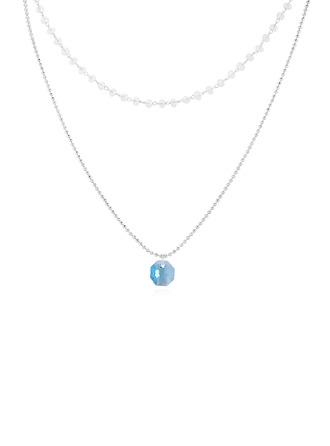 Einfache Kristall/Kupfer Halsketten Freunde/Brautjungfern/Blume Mädchen