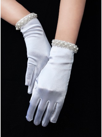 Satin Wrist Length Bridal Gloves