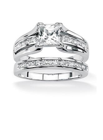 Shining Alloy/Zircon Ladies' Rings