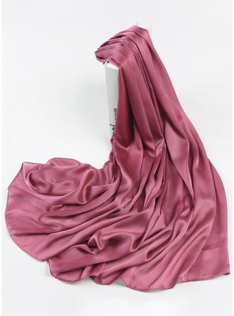 Solid färg Lättvikt/överdimensionerad polyester Halsduk