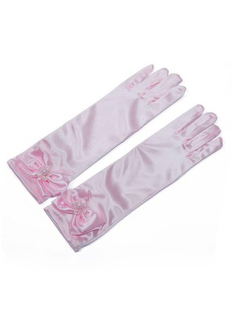 Elastic spandex With Flower Elbow Length Glove