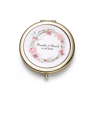 Невеста Подарки - Персонализированные Классический нержавеющая сталь Компактное зеркало