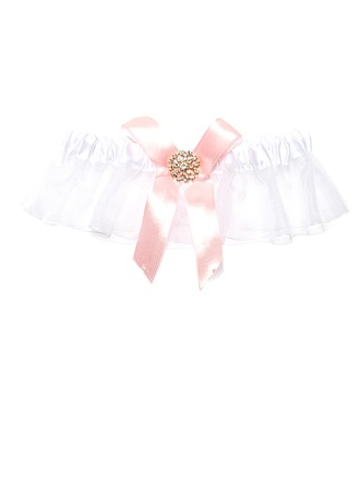 Lovely Organza With Rhinestone Wedding Garters