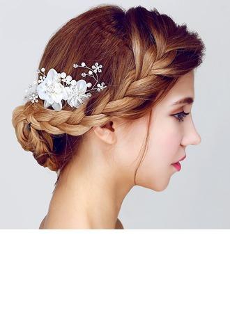 Moda Yapay elmas/Faux Pearl/Suni İpek Çiçekler ve tüyler