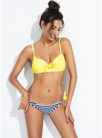 Élégante Stripe Polyester Bikinis Maillot de bain