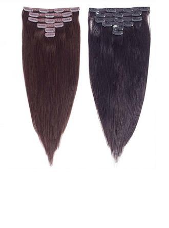 4A No remy Derecho Cabello humano Extensiones de cabello con clip 6 piezas 100g