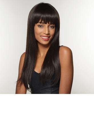 Straight Mid-Length Human Hair Wigs